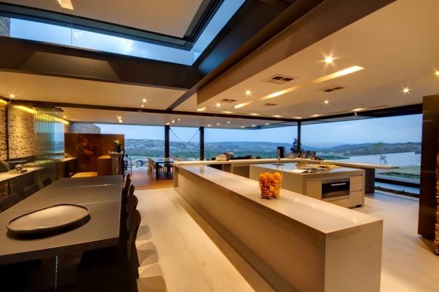 decoracao-cozinha-integrada-casa-em-pretoria-africa-do-sul