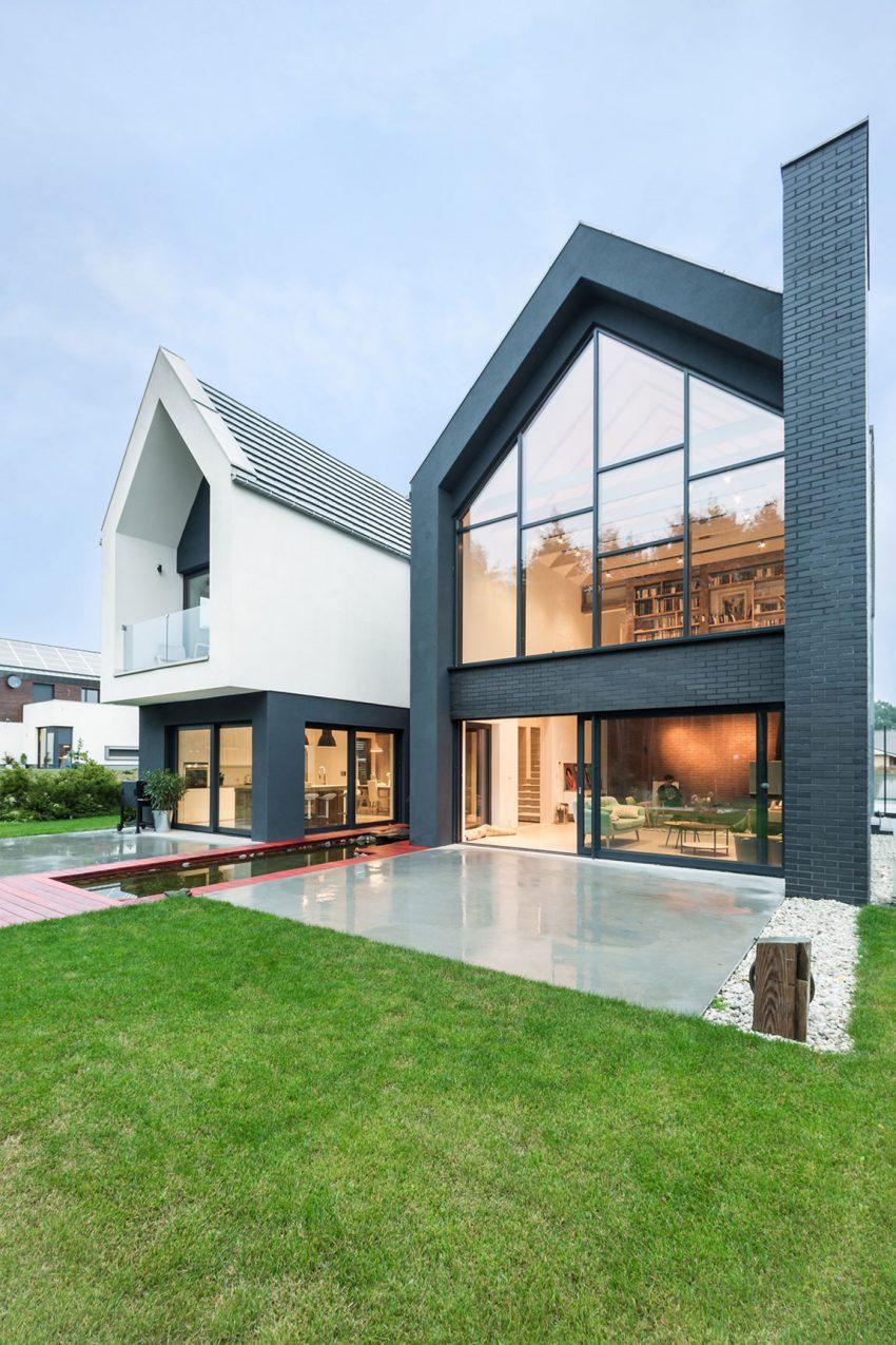 fachada-de-vidro-em-chale-projeto-residencial-em-borowiec-polonia-por-modelina