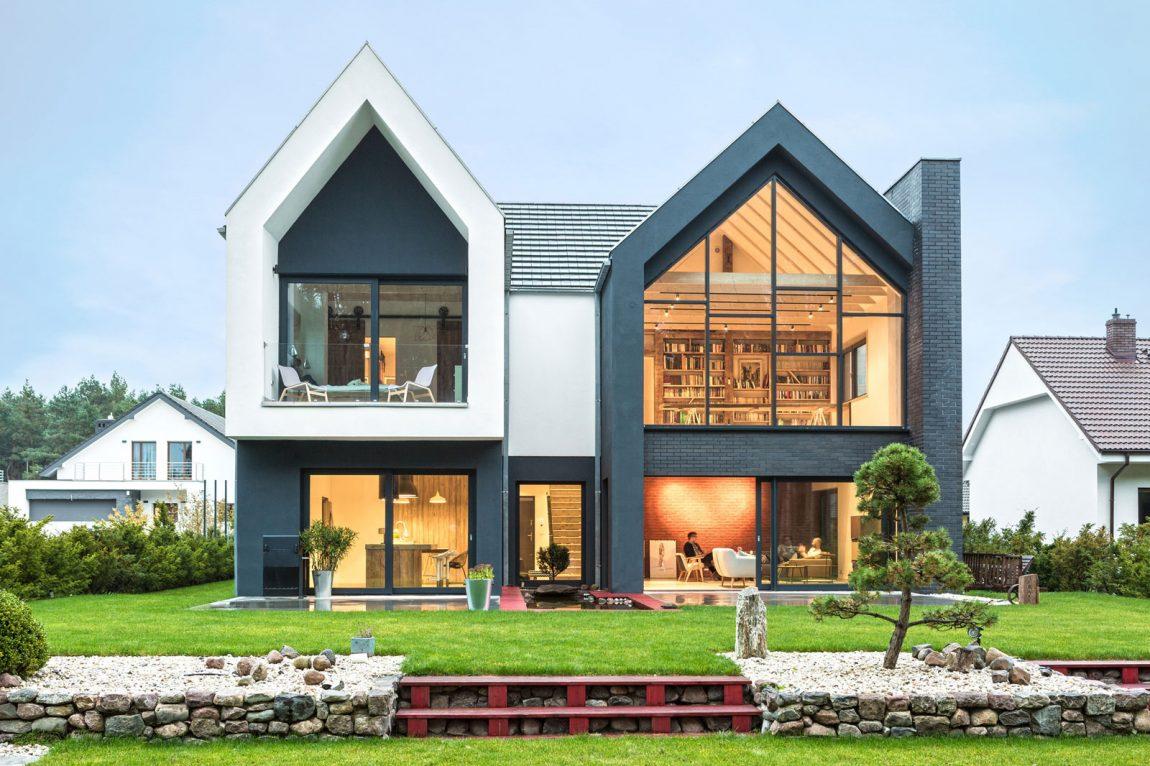 fachada-de-vidro-forma-de-chale-projeto-residencial-em-borowiec-polonia
