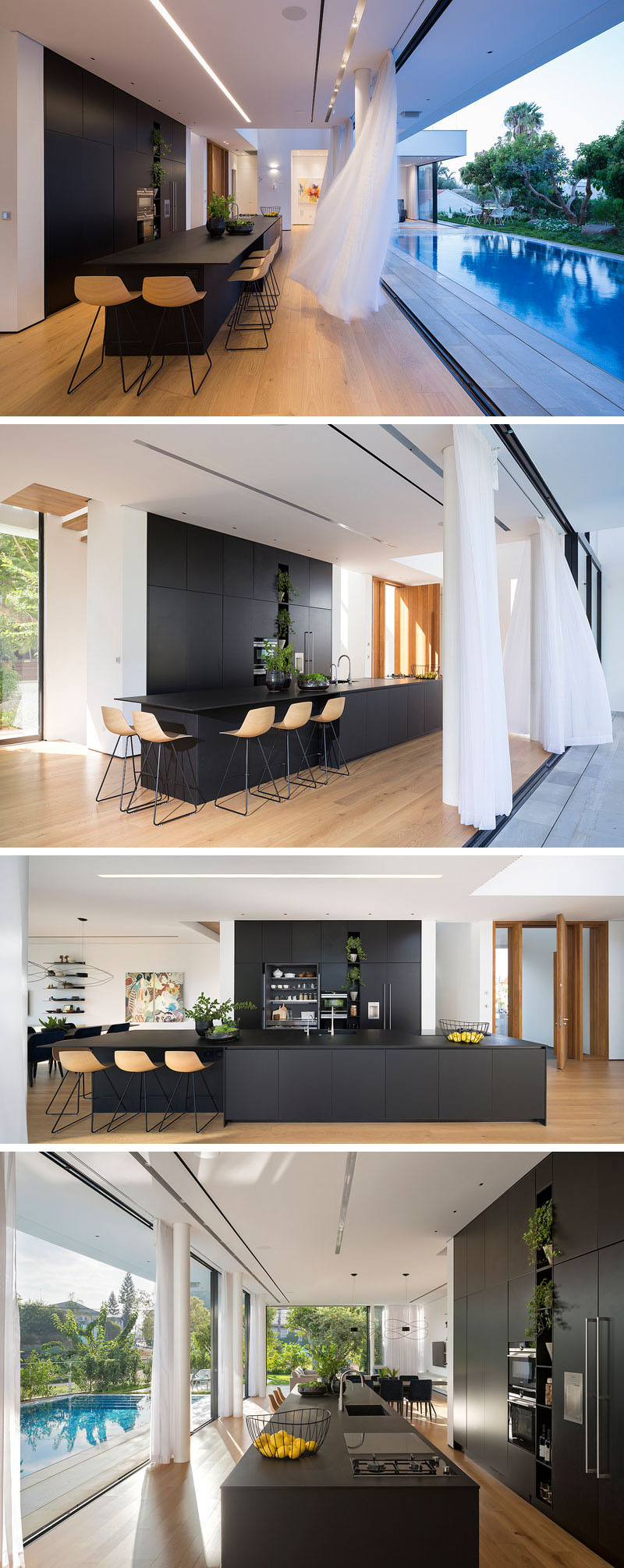 sala-e-cozinha-integradas-a-piscina-casa-em-rishon-lezion-israel