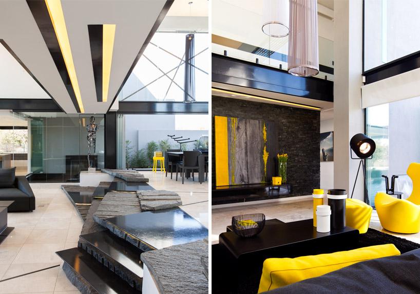 decoracao-em-amarelo-e-preto-casa-em-vidro-e-estruturas-de-aco-preto-midrand-africa-do-sul