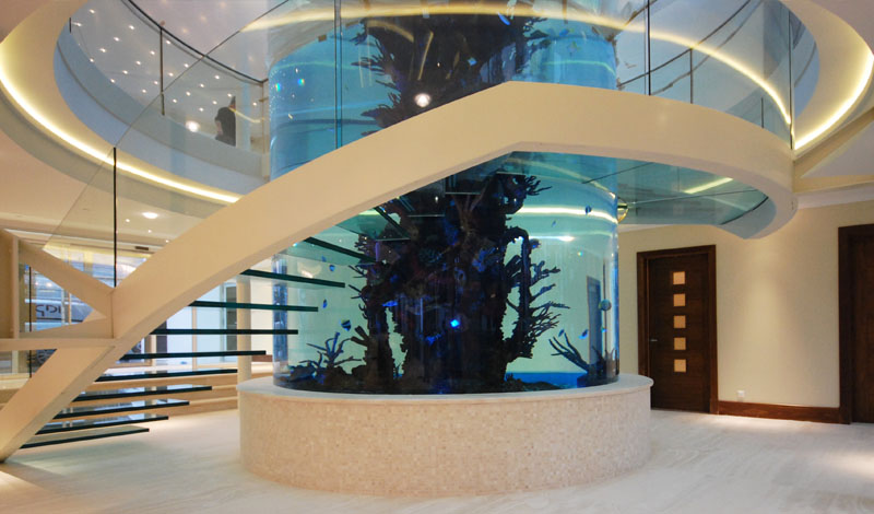 escada-de-vidro-espiral-em-torno-de-aquario